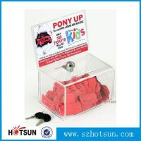 Buy cheap Acrylic Comment/Donation /Collection/Ballot Box with Brochure Pocket and Lock product