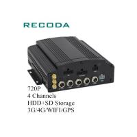 Buy cheap 4G/WIFI/GPS Mobile Vehicle DVR 720P 4 Channels HDD/SD 20% - 80% Humidity from wholesalers