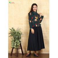 Buy cheap Embroidery Green Cotton Cheongsam Blouse Casual / Formal Style For Ladies from wholesalers