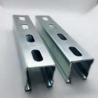 China Hot Dipped Galvanized Steel Unistrut Channel Mounting Brackets / Supporting System on sale