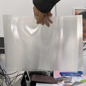 Buy cheap Plastic Lenticular 20 LPI flip lenticular effect thickness 3 mm designed for flip effect on injekt printer USA product