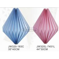 China Blue Pink Colorful Origami Paper Lantern , Origami Chinese Lantern 40cm Paper Lampion on sale