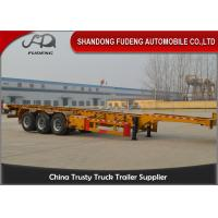 Buy cheap 40 foot straight frame container chassis tri axle container carrier truck semi trailer product