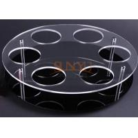 Buy cheap Black Acrylic Jewelry Stand Jewelry Display Rack With Laser Cutting product