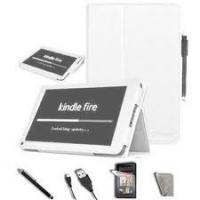 Buy cheap Customizable White PU Leather Amazon Kindle Fire Ebook protective Cover and Cases for girl product