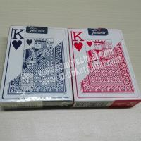 Buy cheap Red And Blue Fournier 818 Plastic Playing Cards With Invisible Ink Markings from wholesalers