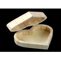Buy cheap Cover Top Heart Shaped Wooden Box , Wooden Crate Gift Box For Rings Wedding Gift product