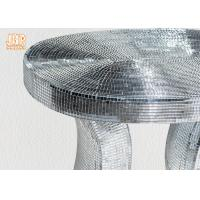 Buy cheap Oval Top Silver Mirror Mosaic Glass Table / Pedestal product