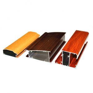 Buy cheap 5.8-7.0m 6063 T5 Wood Finish Aluminium Profiles For Windows Doors product