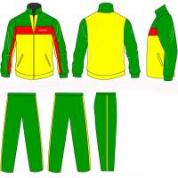 Buy quality Green / Blue Children Tracksuits Embroidery Printing Full Jacket Zip Sportswear at wholesale prices
