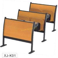 Buy cheap XJ-K01 cheap classic metal frame plywood interlocked amphitheater school chair from wholesalers