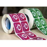 Buy cheap Durable Glossy Sticker Labels / Warning Label Rolled With Custom Logo product