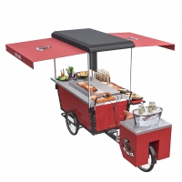 Buy cheap 125L Mobile Stainless Steel Table Top BBQ Food Bike product