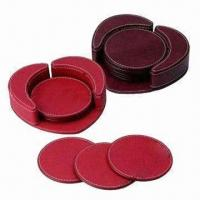 Buy cheap Leather Coasters, Cork Coasters Also Available product