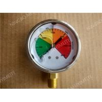 "Buy cheap 2.5"" Liquid Filled Manometer Pressure Gauge with 304 SS Case and Brass Connection product"