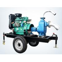 Buy cheap trailer mounted 20hp diesel engine water pump set for agricultural irrigation 100m3 / h product