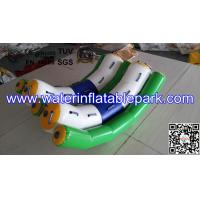 Buy cheap Kids Water Park Toys Inflatable Double Water Seesaw Commercial Grade product