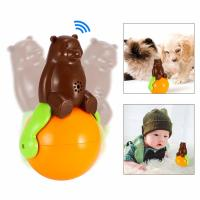 Buy cheap Pet Tumbler Toy music tumbler toy shaking around pet bear funny tumbler dog cat toys product