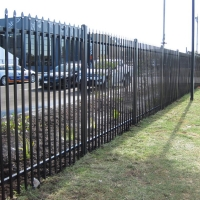 Buy cheap 2400mm Width Square Tube Welded Steel Picket Fence product