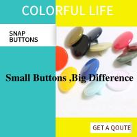 Buy cheap Lightweight Colored Bulk Plastic Snap Buttons Cap Post Fasteners Shiny & Matte from wholesalers
