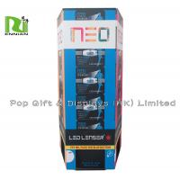 Buy cheap Folding Advertising Cardboard Dump Bin Box for Promotion , Blue Red from wholesalers