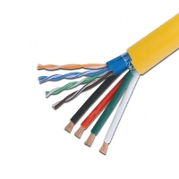 Buy cheap Composite Communication Rg6 Cat6 Cat5e Optical Coaxial Cable product