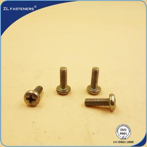 Buy cheap Philips Head Recessed Pan Head Machine Screw , Brass Machine Screws Yellow Zinc Coated product