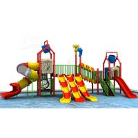 Buy cheap CE Certified Water Park Slide Playground Colorful Straight Type Channel Slides product