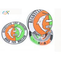 Buy cheap Bulk Design Round Woven Label Patch Custom Made Club Name Logo In Clothing product