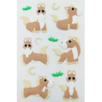 farm Animal custom PET Puffy horse Stickers For Kids Personalized