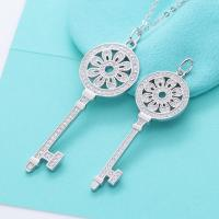 Buy cheap 925 Sterling Silver Jewelry Sunflower Key Pendant Sweater Chain Necklace from wholesalers