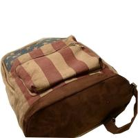 Printed Chamois Leather Backpacks / Travelling Backpacks For Girls In High