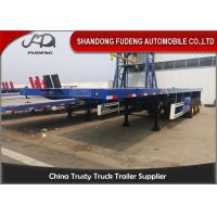 Buy cheap 3 Axles 40 Ft 45 Ft Transport 60 Tons Flatbed Container Trailer For Sale from wholesalers