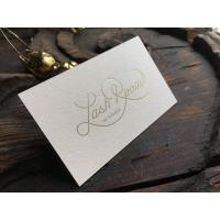 Buy cheap Custom Gold Foil Stamped Business Cards Offset Printing ISO 9001 Approved from wholesalers