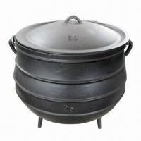 Buy quality Cast Iron Potjie Pot with 3 Legs, Used for Slow Cooking of Stews, Available in Different Sizes at wholesale prices
