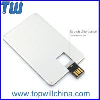Promotion Slim Metal Credit Card USB 16 GB Flash Drive High Printing Quality Best Price