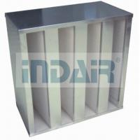 Buy cheap Plastic V Cell Terminal HEPA Filter , Low Pressure Drop V Bank HEPA Filter product