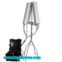 Buy cheap 2017 New Promotion 600W 4 to 8 bands High Power Jammer up to 2500m Drone Jammer product