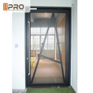 Tempered Glass Pivot Front Door , Aluminium Contemporary Entrance Doors