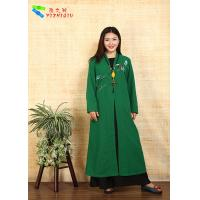 Traditional Chinese Clothing Female Floral Embroidered Coat For Daily Wear
