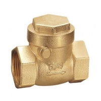 China Water System 25 Bar Forging Brass Swing Check Valve on sale