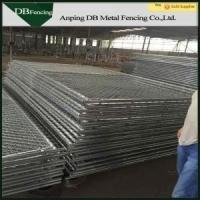 Buy cheap Removable Temporary Chain Link Fence Panels 6x12 Foot With Cross Brace product