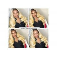 Buy cheap Body Wave Human Hair Peruvian Hair Bundles With Frontal 13X4 Closure Ombre product