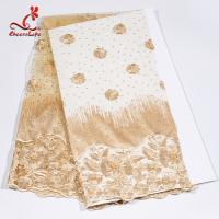 Buy cheap African Swiss Tulle Bridal Lace Fabric For Haute Couture Dress product