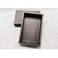 Buy cheap Durable Push - Pull  Cardboard Gift Boxes ,Recycle Black Kraft Gift Box product