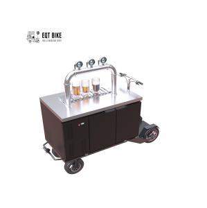 Buy cheap Mobile Street Electric Cooler Beer Vending Cart Metal Frame product