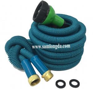 Buy cheap 2017 Expandable Garden hose,75FT strongest garden hose, brass quick coupling, green color expanding garden hose product