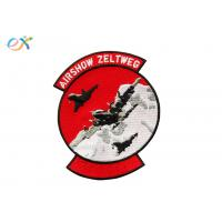 Buy cheap Merrow Border Airshow Embroidered Military Patches With Iron on Backing product