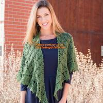 Buy cheap Crochet Woman Poncho, Poncho, woman poncho, poncho wrap, Green Free Knitting Crochet Woman product