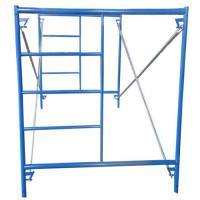 Buy cheap Construction Ladder Frame Scaffolding , H Type Scaffolding Frame With Metal Cross Brace from wholesalers